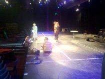on stage , oefenen voor het Majoor Bosshardt Gala
