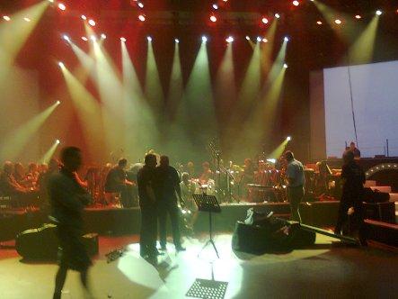 Heineken Music Hall, oefenen.