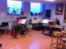 Mooie mensen , samenspelend in Stuio Florence.